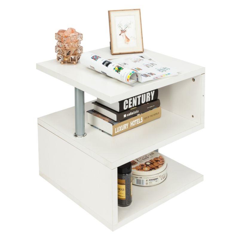 Details About Modern Wood Square Coffee Table Living Room Storage Furniture  White with Square Coffee Table With Storage
