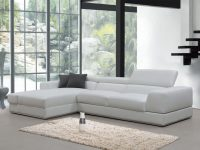 Divani Casa Pella Mini Modern White Leather Sectional Sofa with regard to Best of Leather Sectional Modern