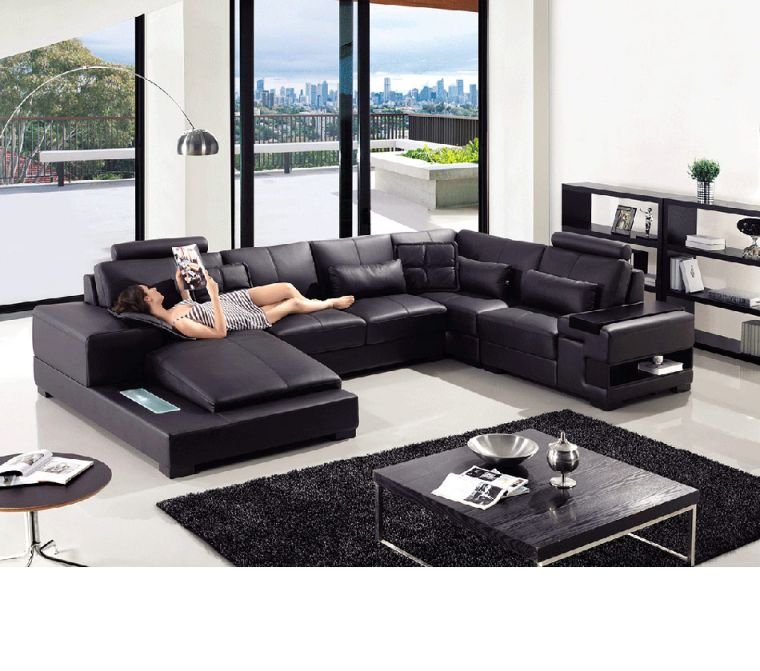 Divani Casa T285 – Modern Leather Sectional Sofa with regard to Best of Leather Sectional Modern