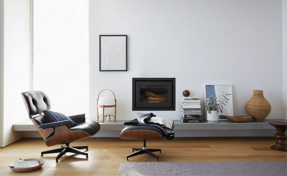 Eames® Lounge Chair & Ottoman inside Unique Lounge Chair Living Room Furniture