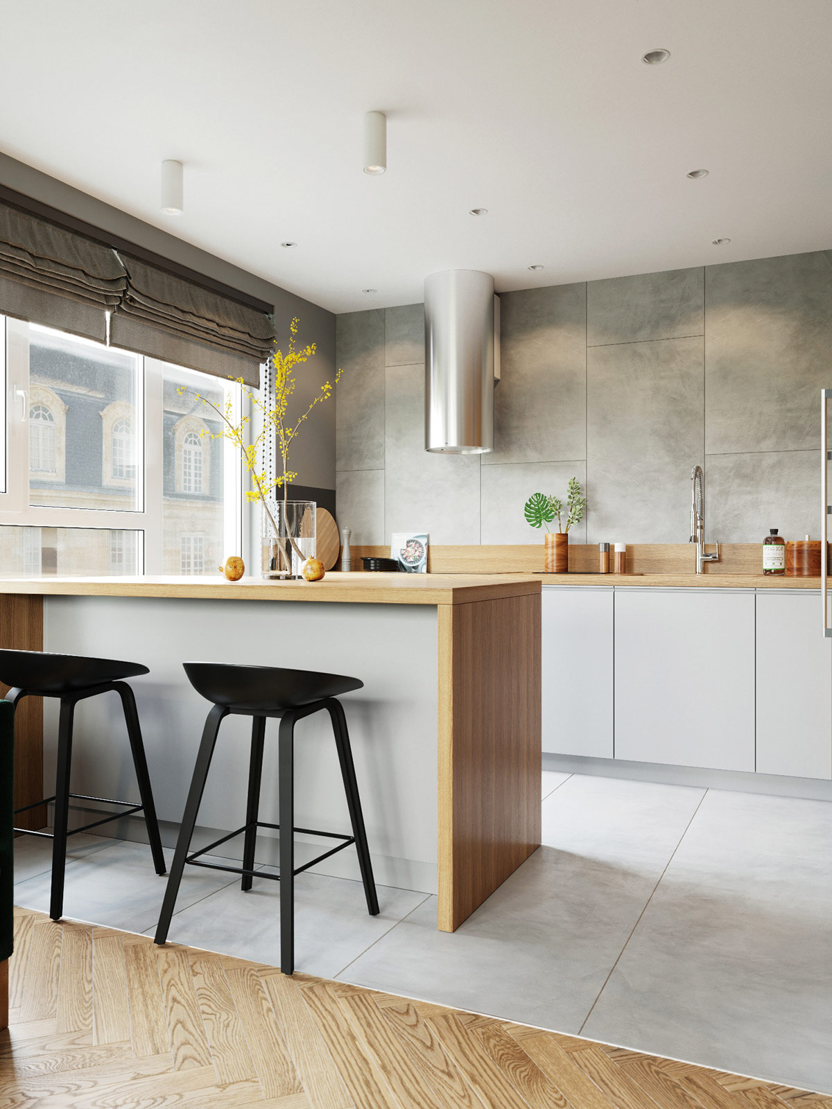 eat-in-kitchen-breakfast-bar-with-modern-counter-height-stools