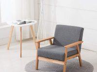 Eggree Grey Fabric Sofa Chair Scandinavian Designed Lounge Chair regarding Unique Lounge Chair Living Room Furniture