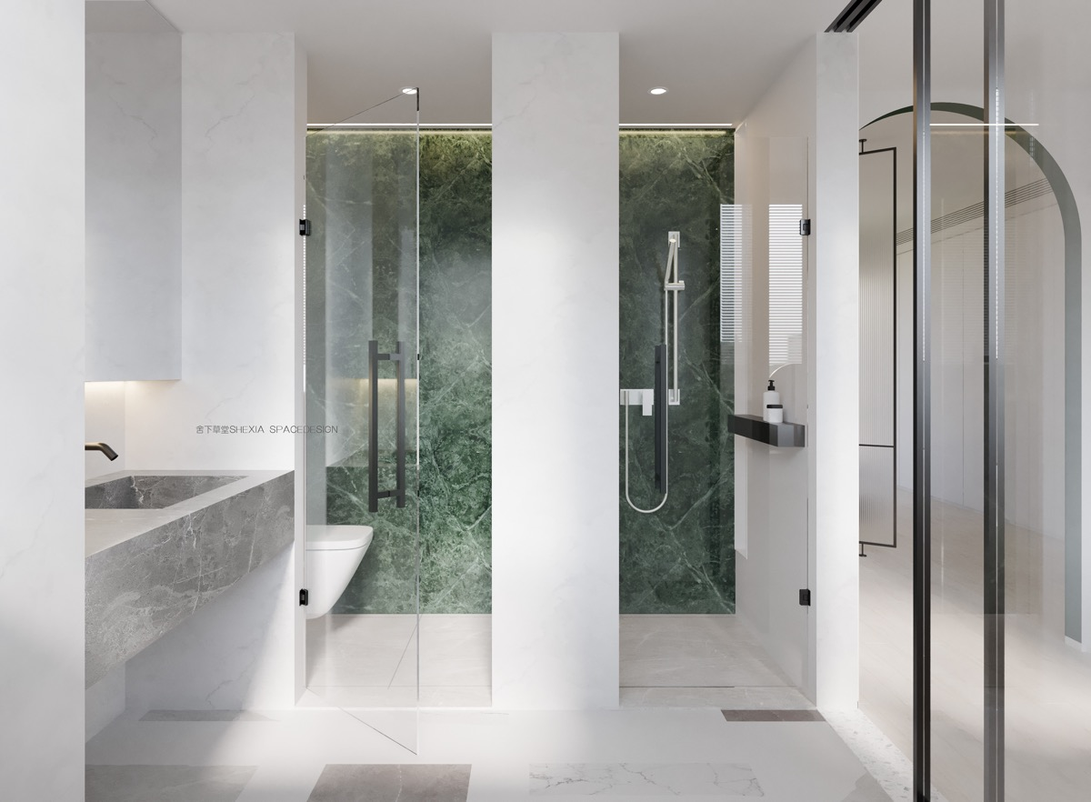 emerald-green-marble-in-modern-bathroom-design