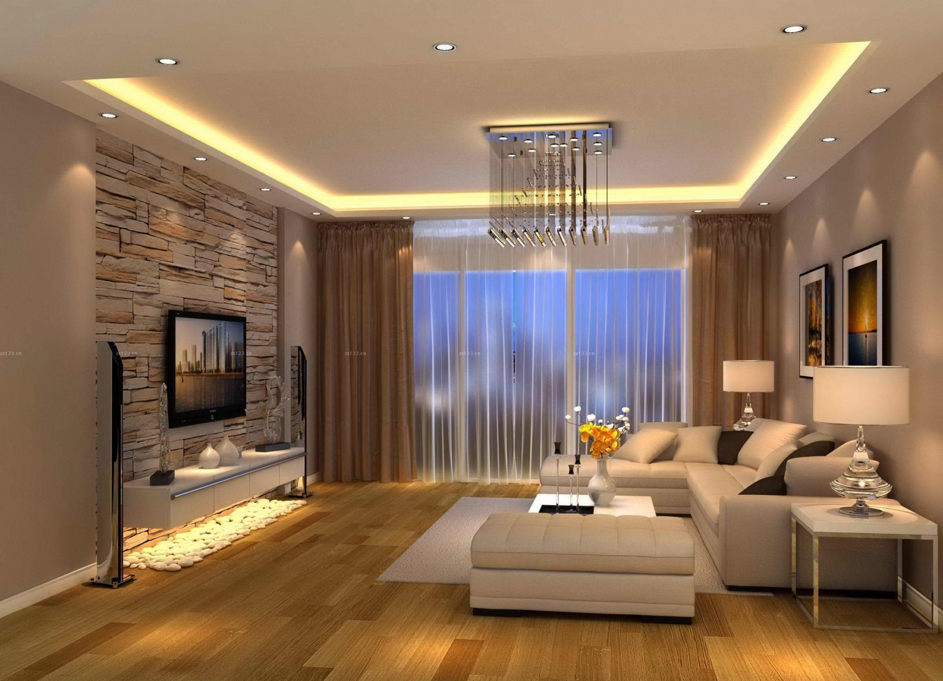 Exquisite Modern Living Design Ideas Of Beautiful Room Tv