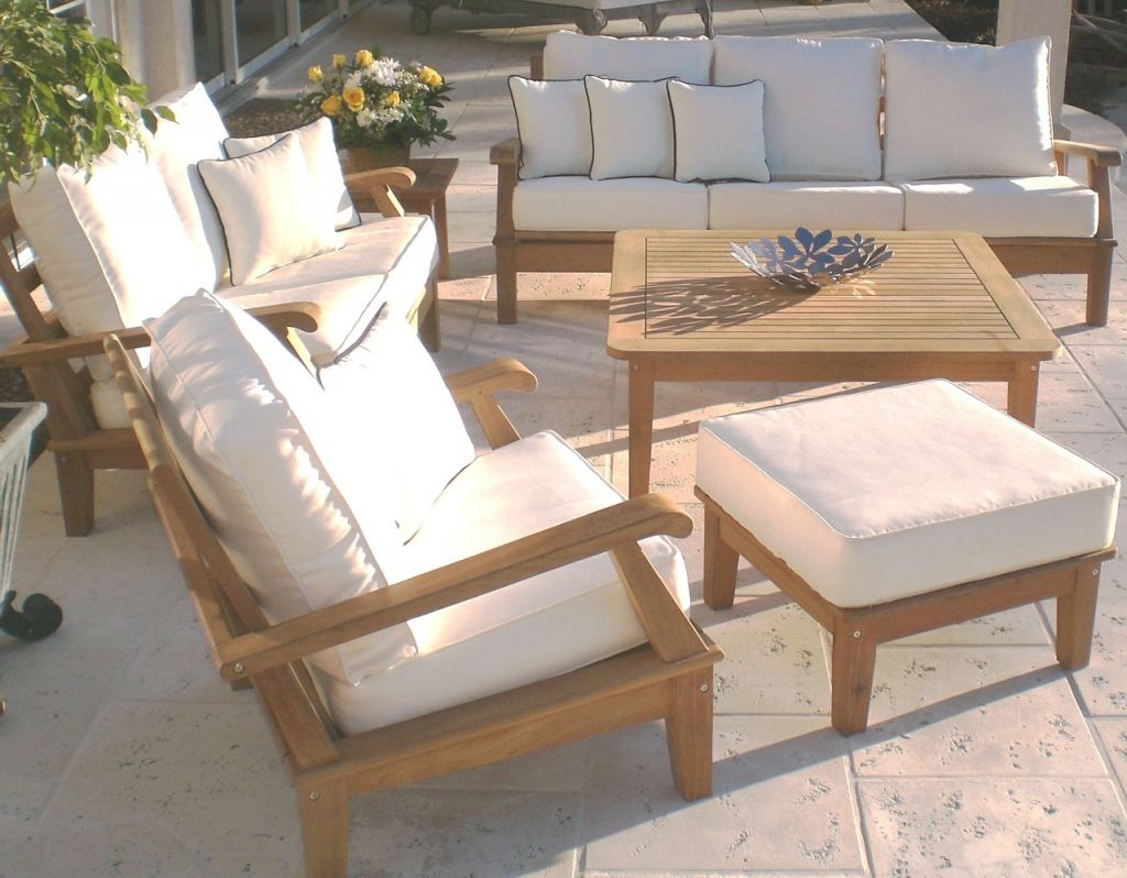 Exterior Design: Cool Design Smith Hawken Teak Outdoor Furniture For inside Teak Outdoor Furniture Set