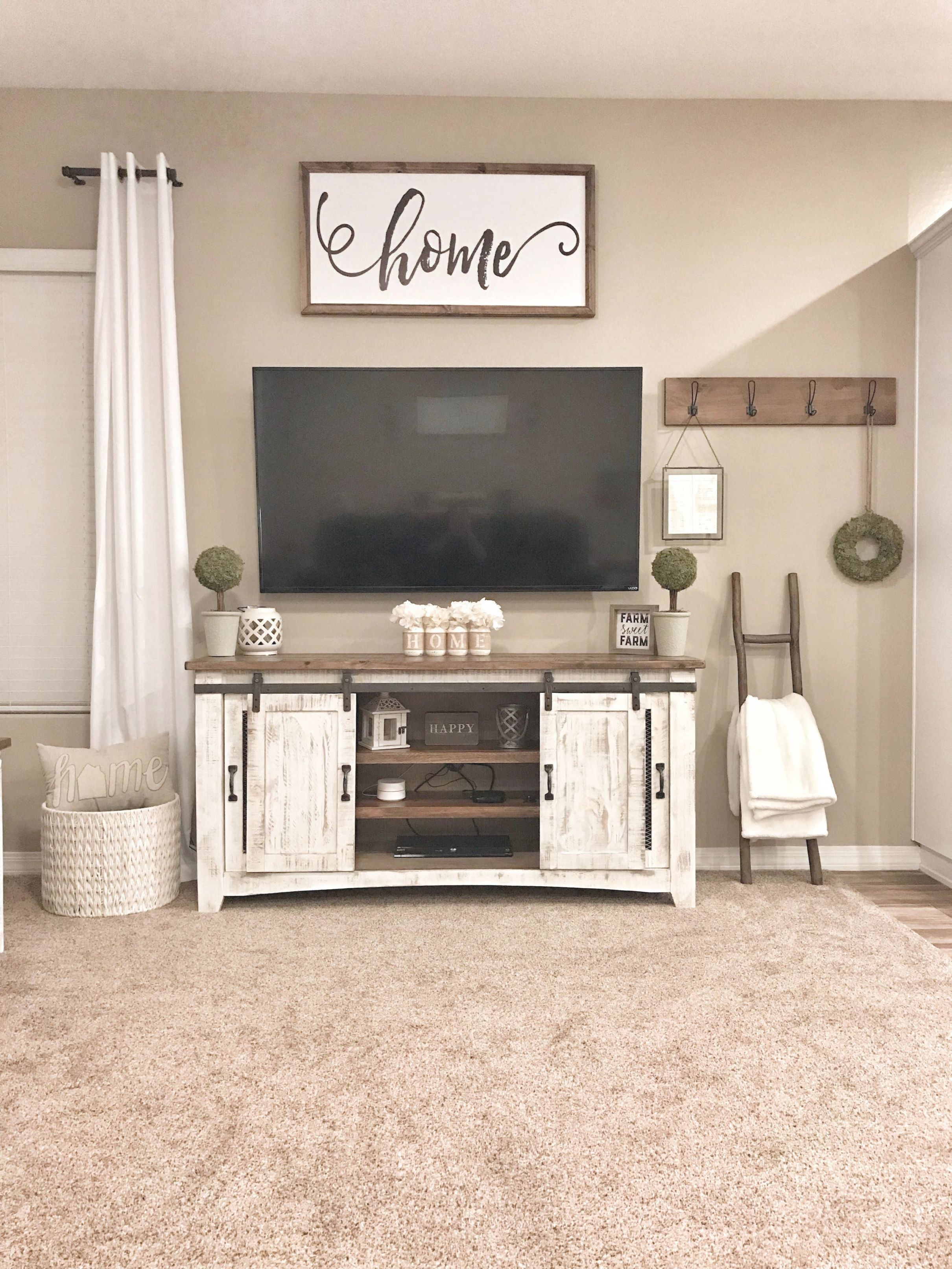 Farmhouse Tv Stand Decor #diyhomedecorideasorganizations | Diy Home in Elegant Modern Tv Stand Ideas For Living Room Ideas 2019