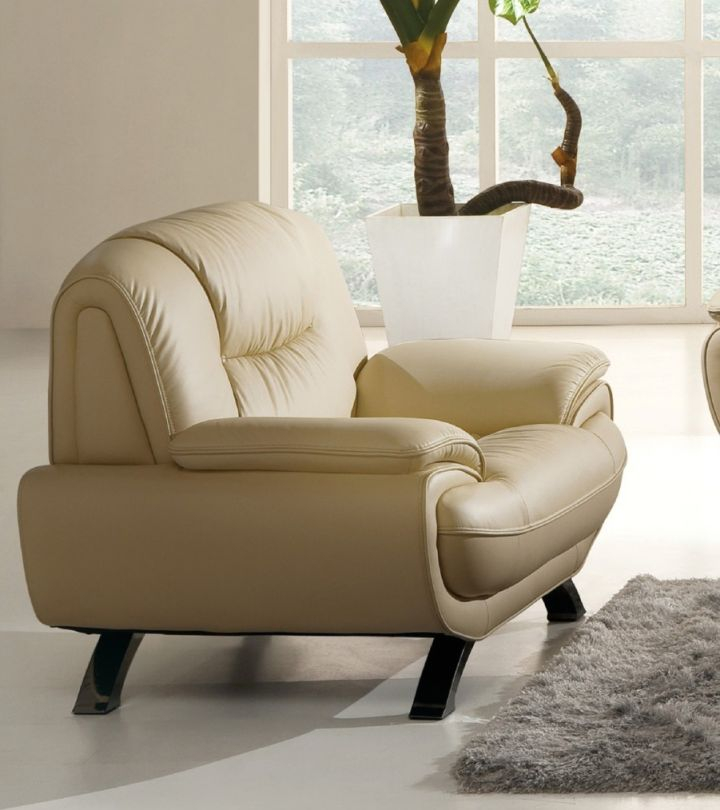 Furniture: Calm Design White Comfortable Leather Chair For ...