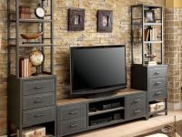Furniture Of America Galway 72 Tv Stand With Pier Cabinet In Gun Metal pertaining to New Furniture Tv Stands