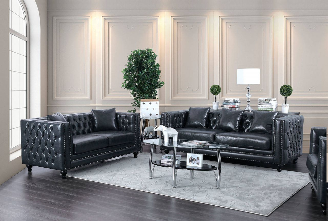 Furniture Of America Sabini Dark Gray 2Pc Living Room Set with Unique Living Room Sets