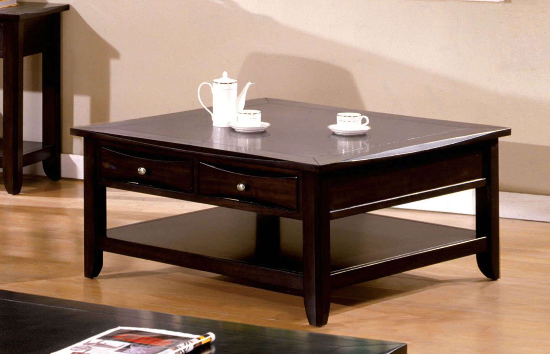 Geomar Square Coffee Table With Storage for Square Coffee Table With Storage