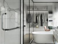 glass-wall-bathroom-with-large-marble-floor-tiles
