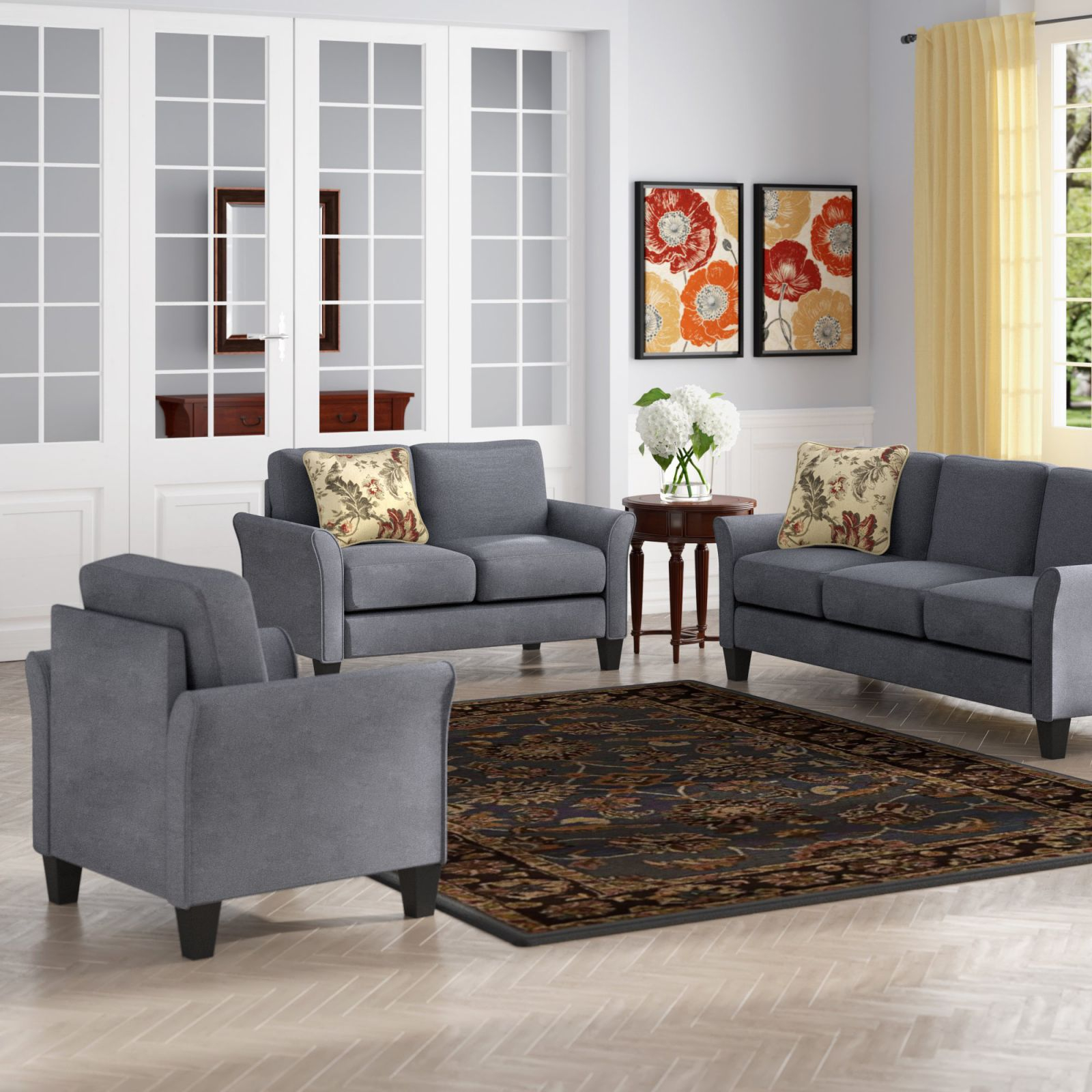 Goldnilla 3 Piece Living Room Set with regard to Living Room Sets