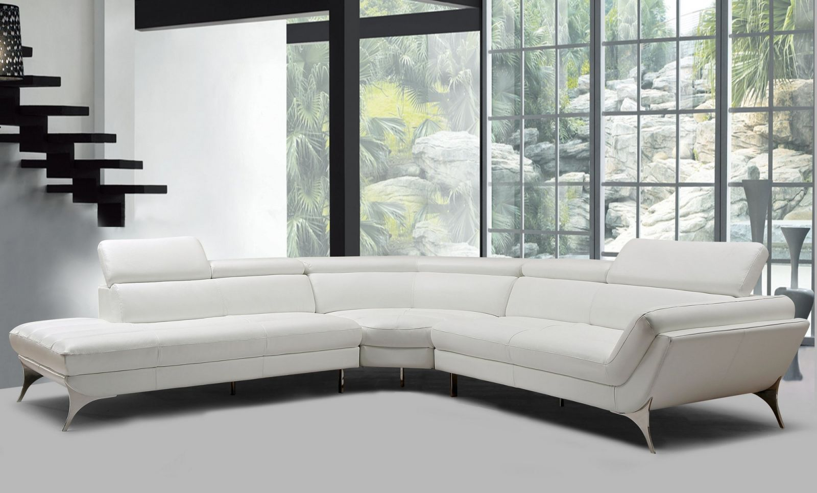 Ideas Leather Sectional Modern