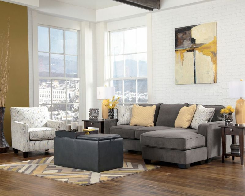 Grey Sectional With Accent Chair | Home In 2019 | Chaise Sofa regarding Living Room Furniture Accent Chairs