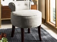 grey-vanity-stool-chair-with-short-back-and-solid-wood-legs