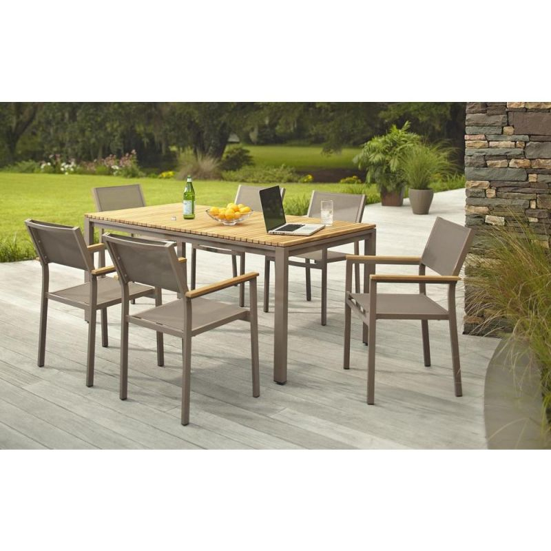 Hampton Bay Barnsdale Teak 7-Piece Patio Dining Set for Teak Outdoor Furniture Set