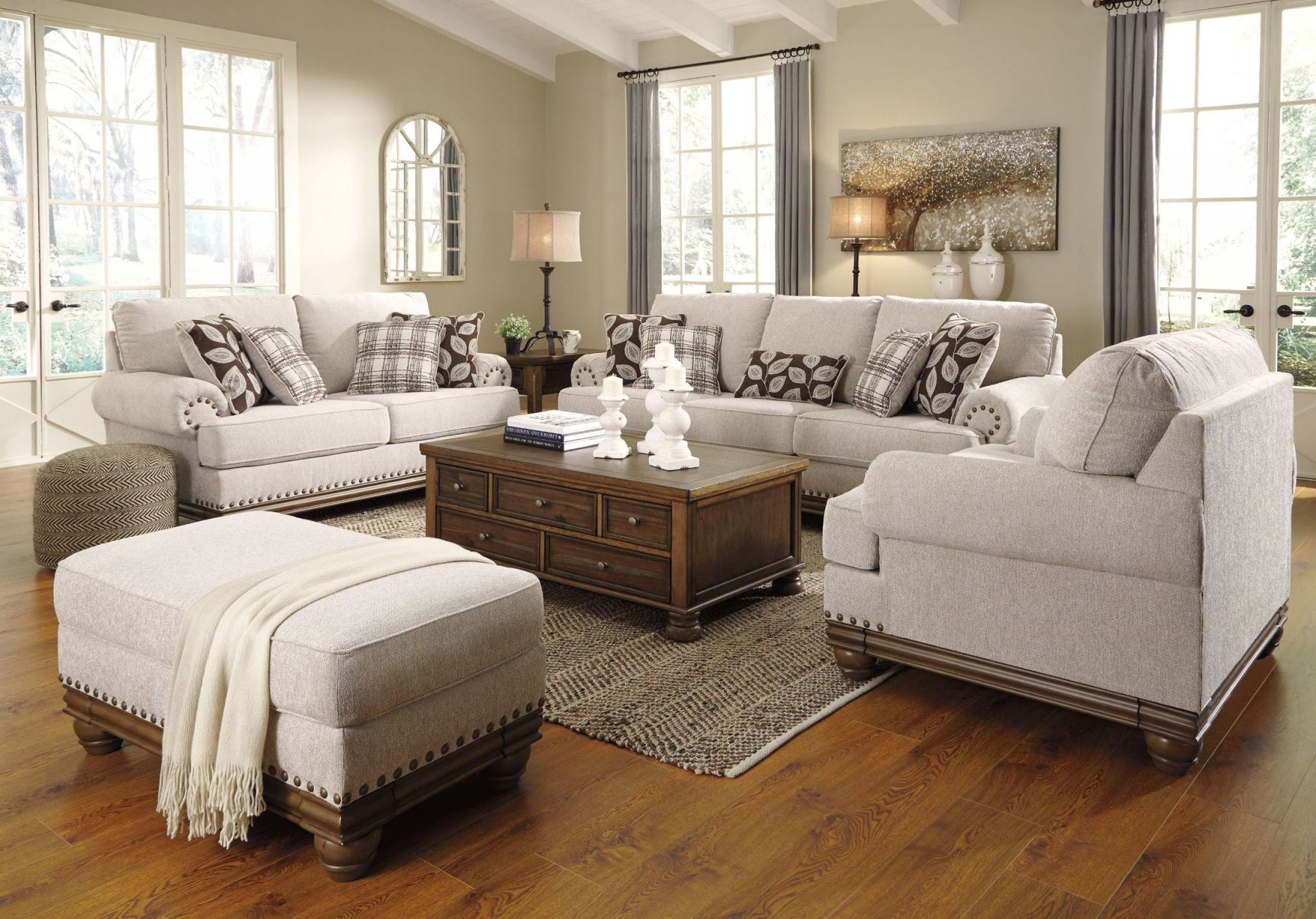 Harleson Wheat Living Room Set with regard to Living Room Sets