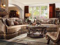 Hd 1631 Homey Design Upholstery Living Room Set Victorian, European & Classic Design Sofa Set intended for Unique Living Room Sets