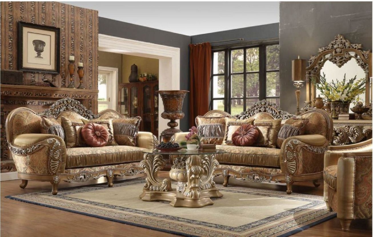 Hd 622 Homey Design Upholstery Living Room Set Victorian, European & Classic Design Sofa Set with regard to Unique Living Room Sets