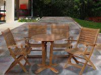 Ia Aruba Teak 5-Piece Patio Dining Set for Teak Outdoor Furniture Set