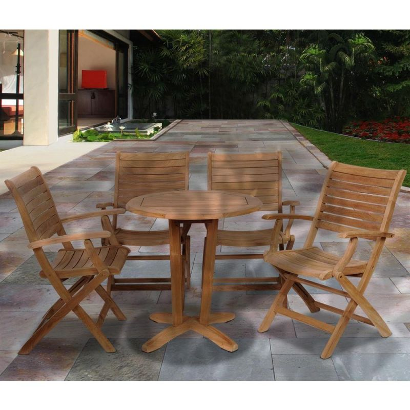 Ia Aruba Teak 5-Piece Patio Dining Set for Teak Outdoor Furniture Set