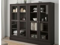 Ikea – Havsta Storage Combination W/glass Doors Dark Brown In 2019 intended for Lovely Living Room Storage Cabinet With Doors