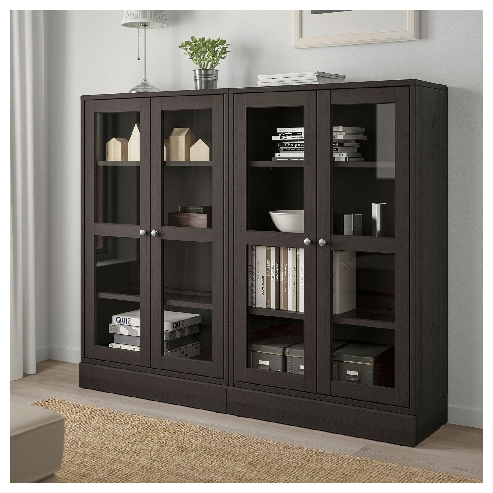 Ikea Havsta Storage Combination W Glass Doors Dark Brown