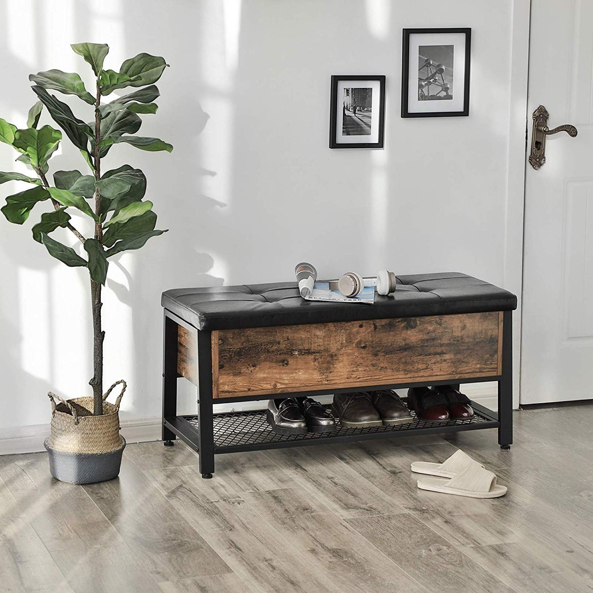 industrial-storage-bench-with-faux-leather-top-weathered-wood-sides-and-metal-grate-bottom-shelf