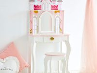 kids-vanity-set-with-stool-castle-design-with-drawer-and-throne