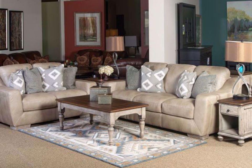 Lux Linen All Leather Living Room Set intended for Awesome Leather Living Room Sets
