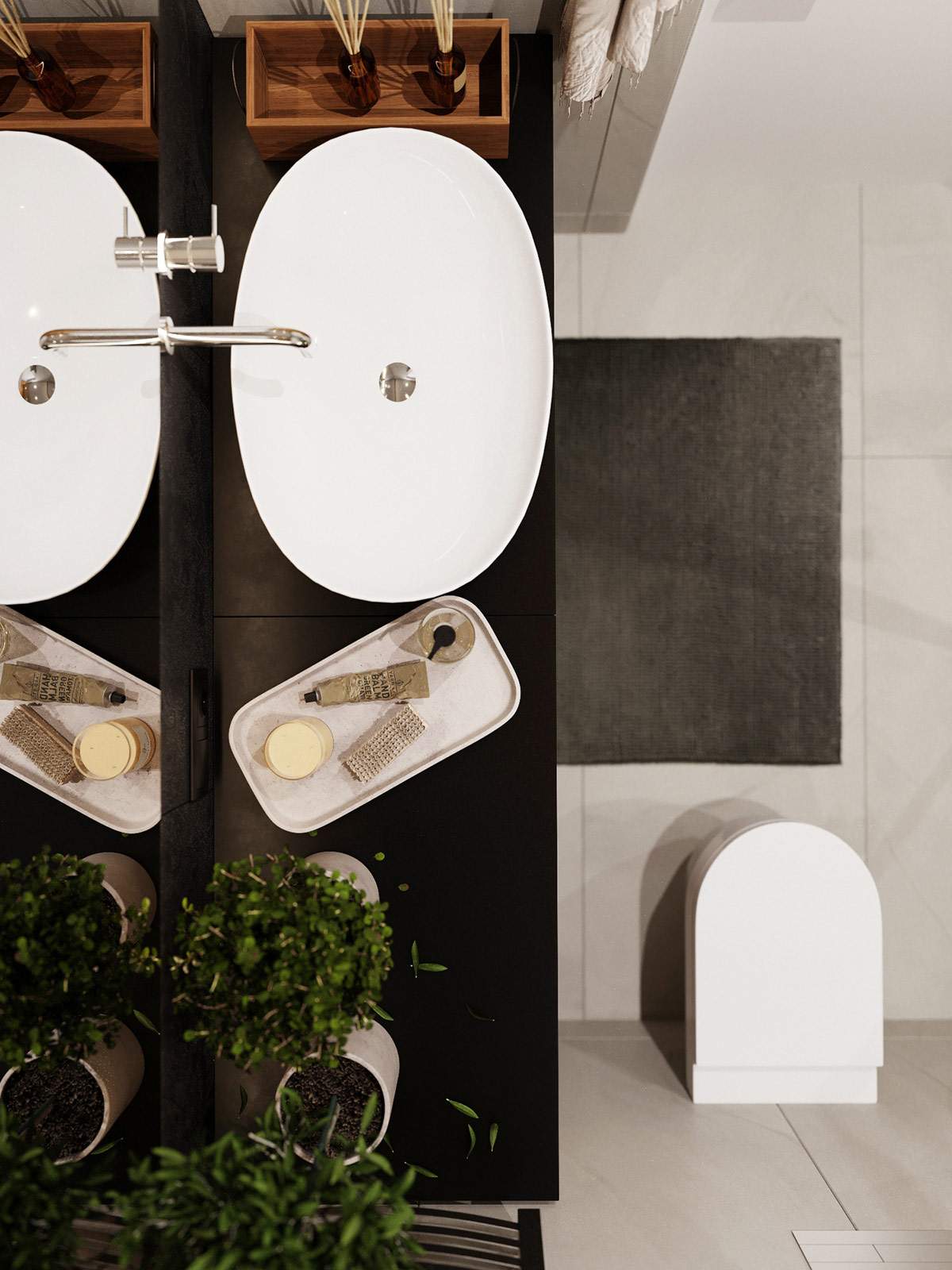 luxurious-modern-bathroom-design-with-vessel-sink-and-plants