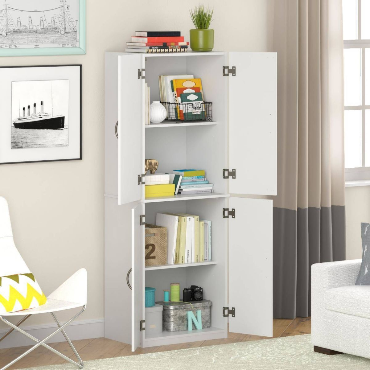 Mainstays Storage Cabinet, Multiple Finishes regarding Lovely Living Room Storage Cabinet With Doors