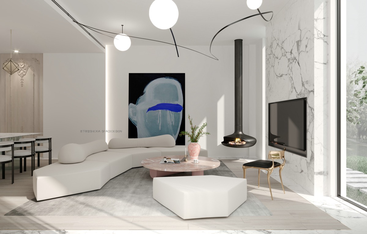 Dramatic Marble Accents In 3 Modern Homes By Shexia Space Design
