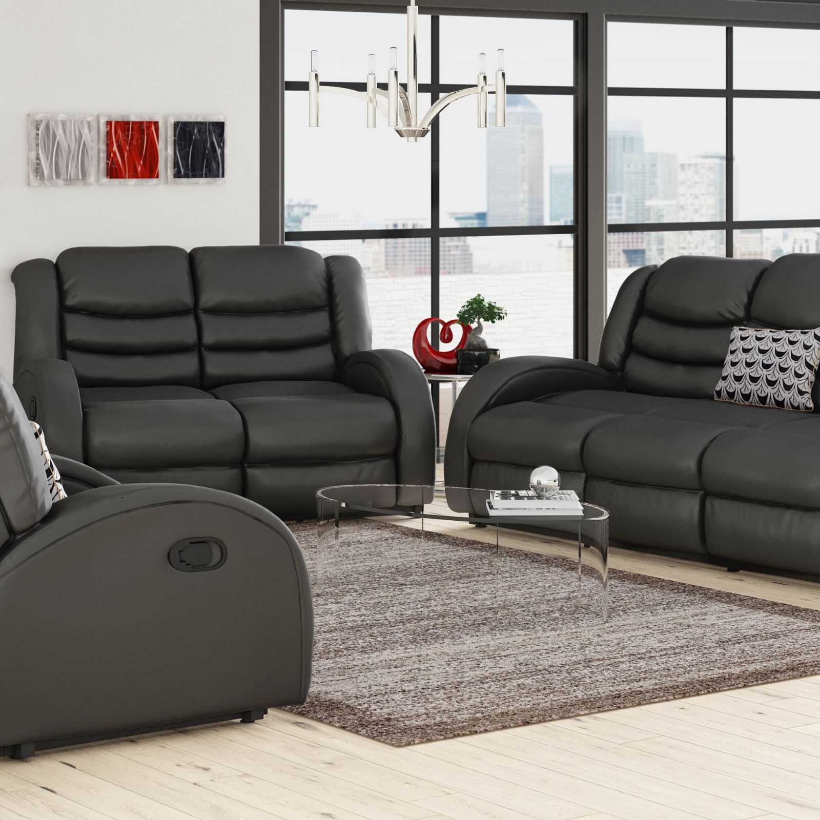 Mcpeak 3 Piece Living Room Set intended for Unique Living Room Sets