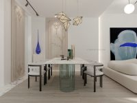modern-dining-room-decorative-blue-vase-marble-dining-table-and-grand-boiserie