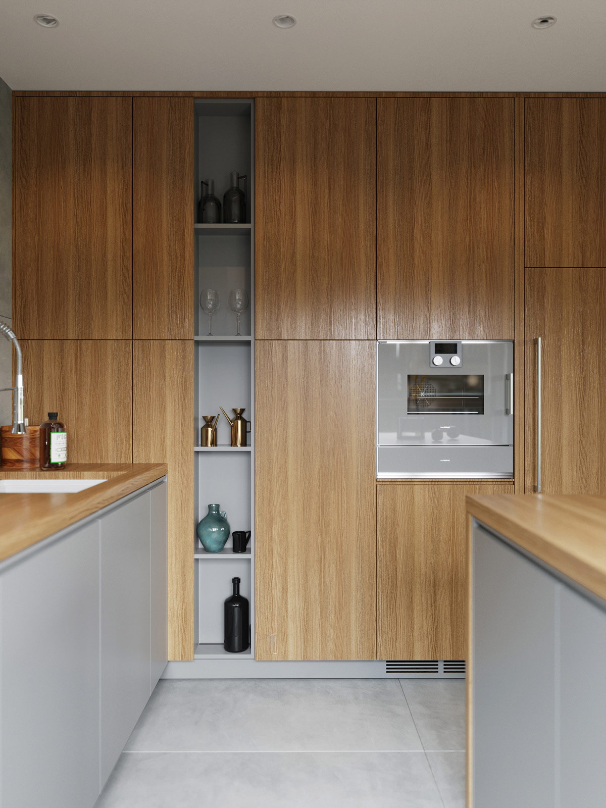 modern-kitchen-with-wood-cabinetry-and-open-shelving-inspiration
