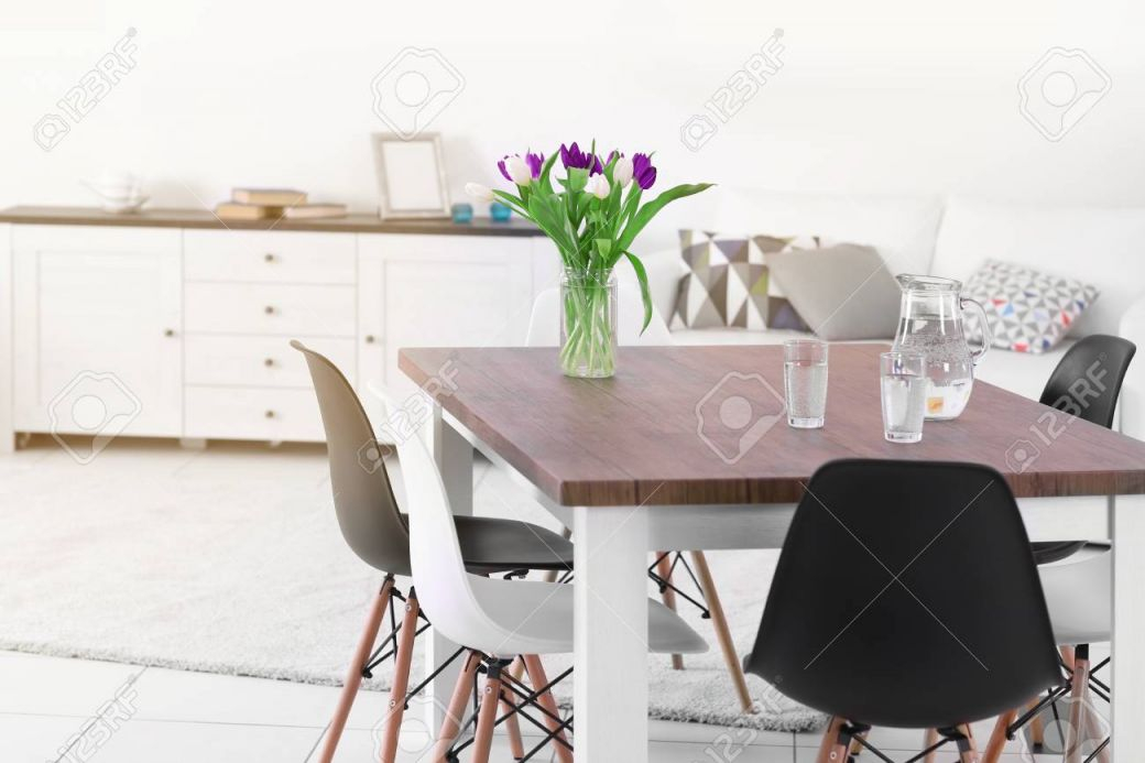 Modern Living Room. Furniture Set With Table And Chairs. Bouquet Of with regard to Fresh Modern Living Room Chairs