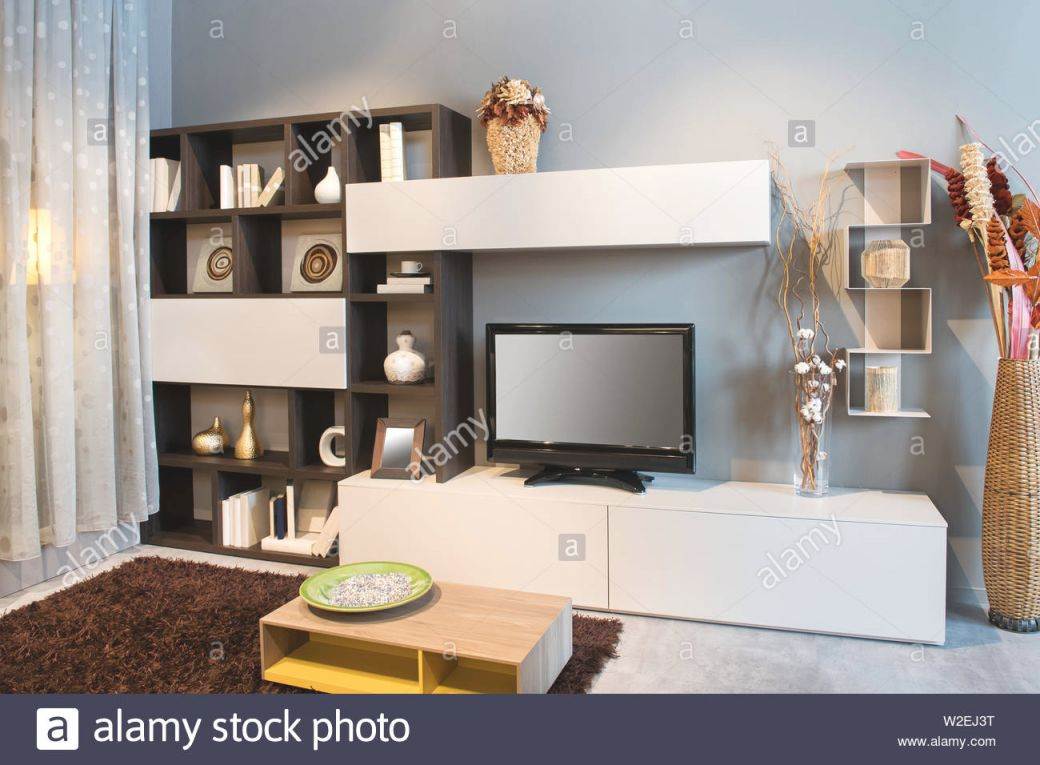 Modern Tv Wall Unit Living Room Stock Photos & Modern Tv Wall Unit with regard to Modern Living Room Tv Wall