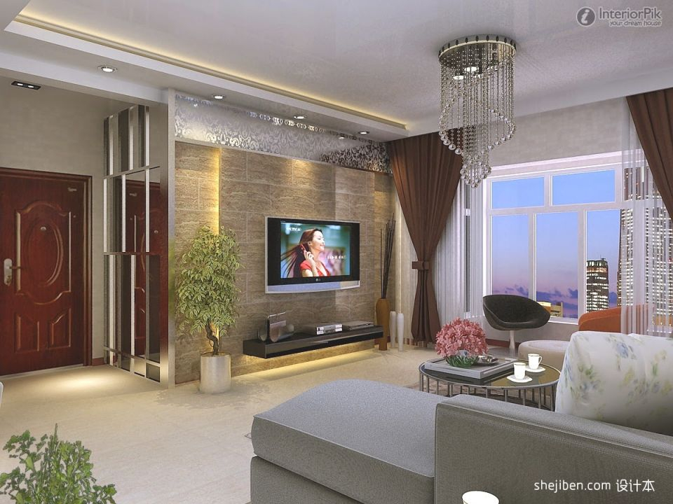 Living Room Modern Tv Wall Design Ideas
