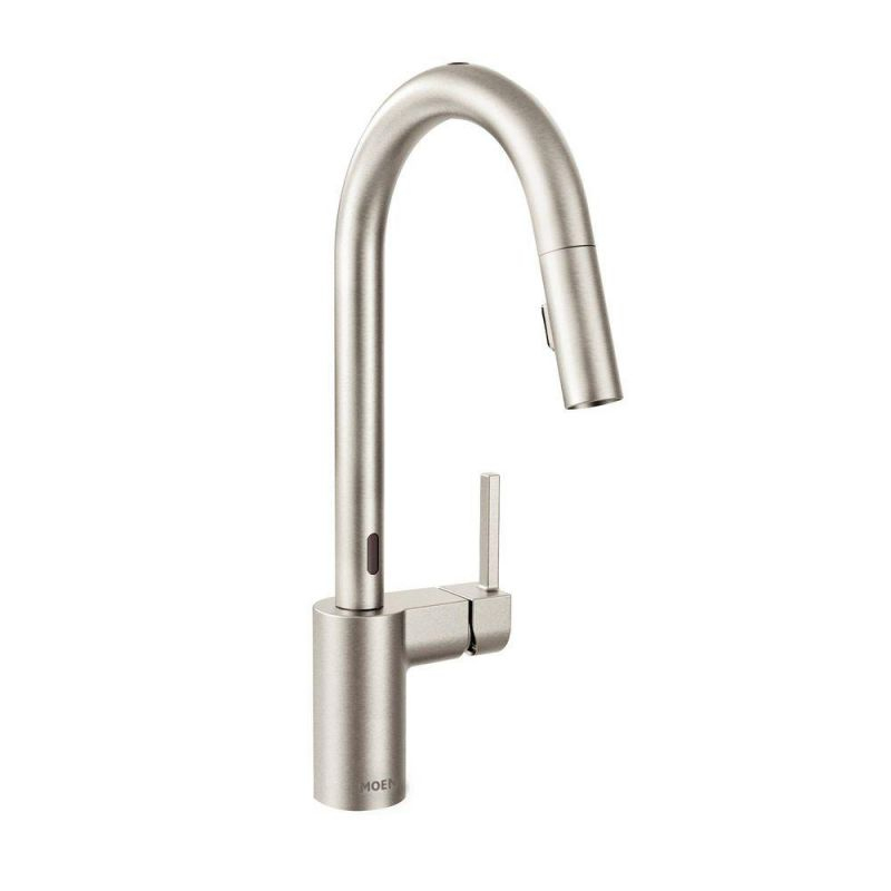 Moen Align Single-Handle Touchless Pull-Down Sprayer Kitchen Faucet With Motionsense In Spot Resist Stainless regarding Touchless Kitchen Faucet