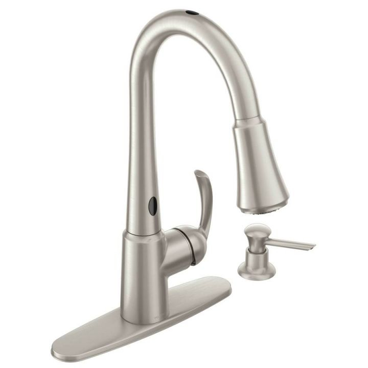 Moen Delaney With Motionsense Spot Resist Stainless 1-Handle Pull intended for New Touchless Kitchen Faucet