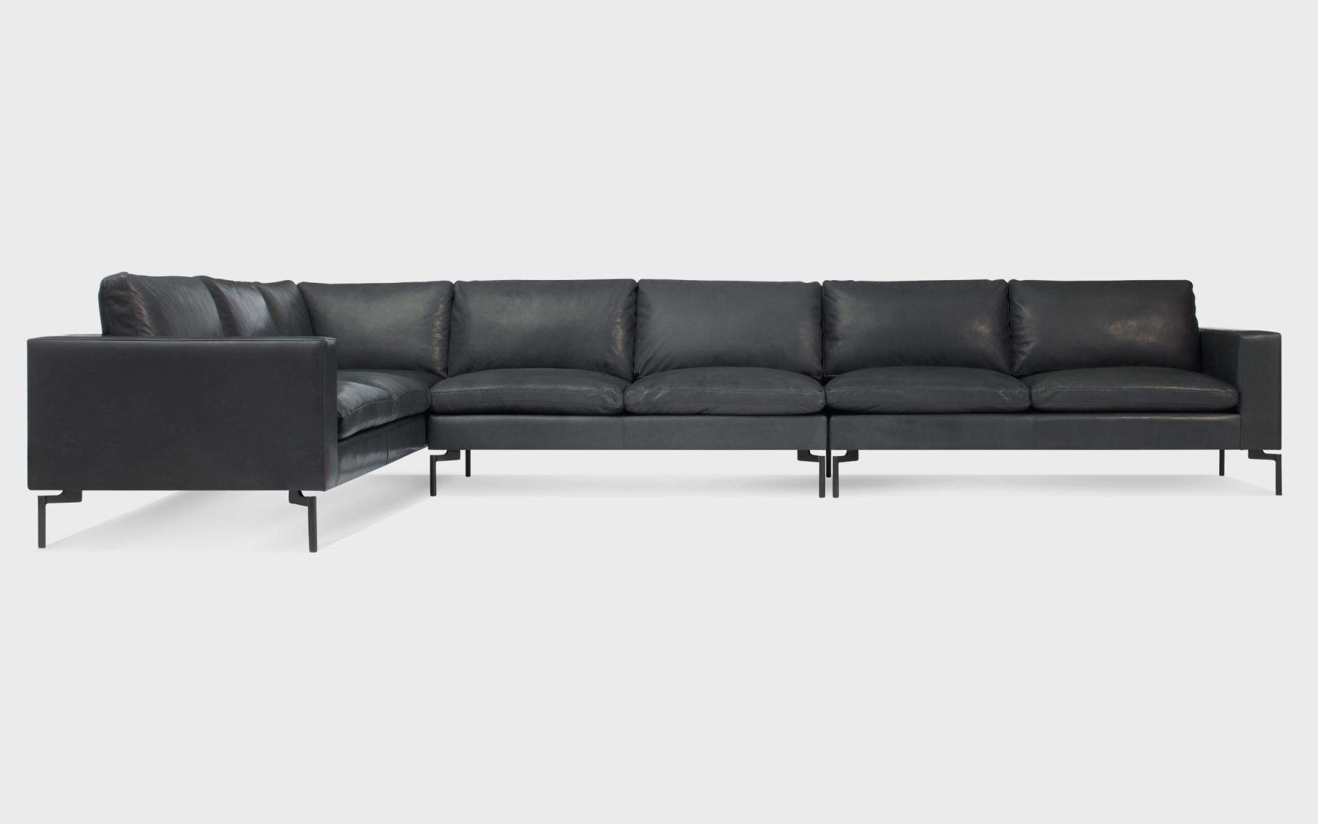 New Standard Large Leather Sectional Sofa | Blu Dot with Best of Leather Sectional Sofa