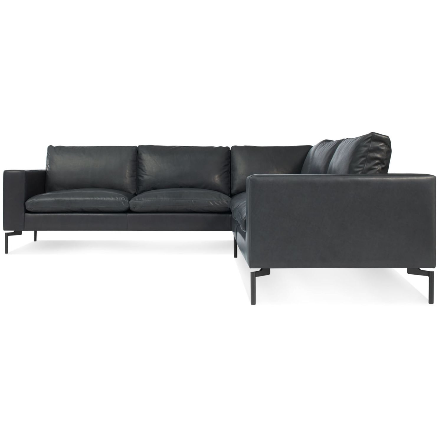 New Standard Leather Sectional Sofa – Small with Leather Sectional Modern