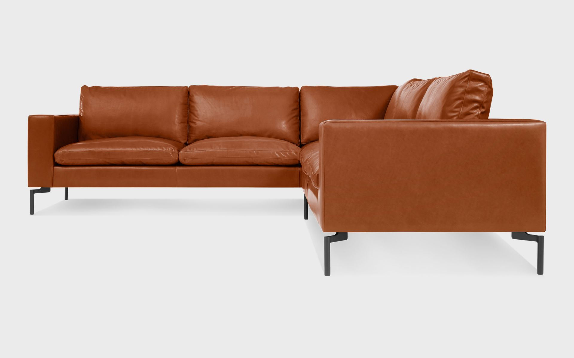 New Standard Small Leather Sectional – Modern Leather Sofa | Blu Dot throughout Leather Sectional Sofa