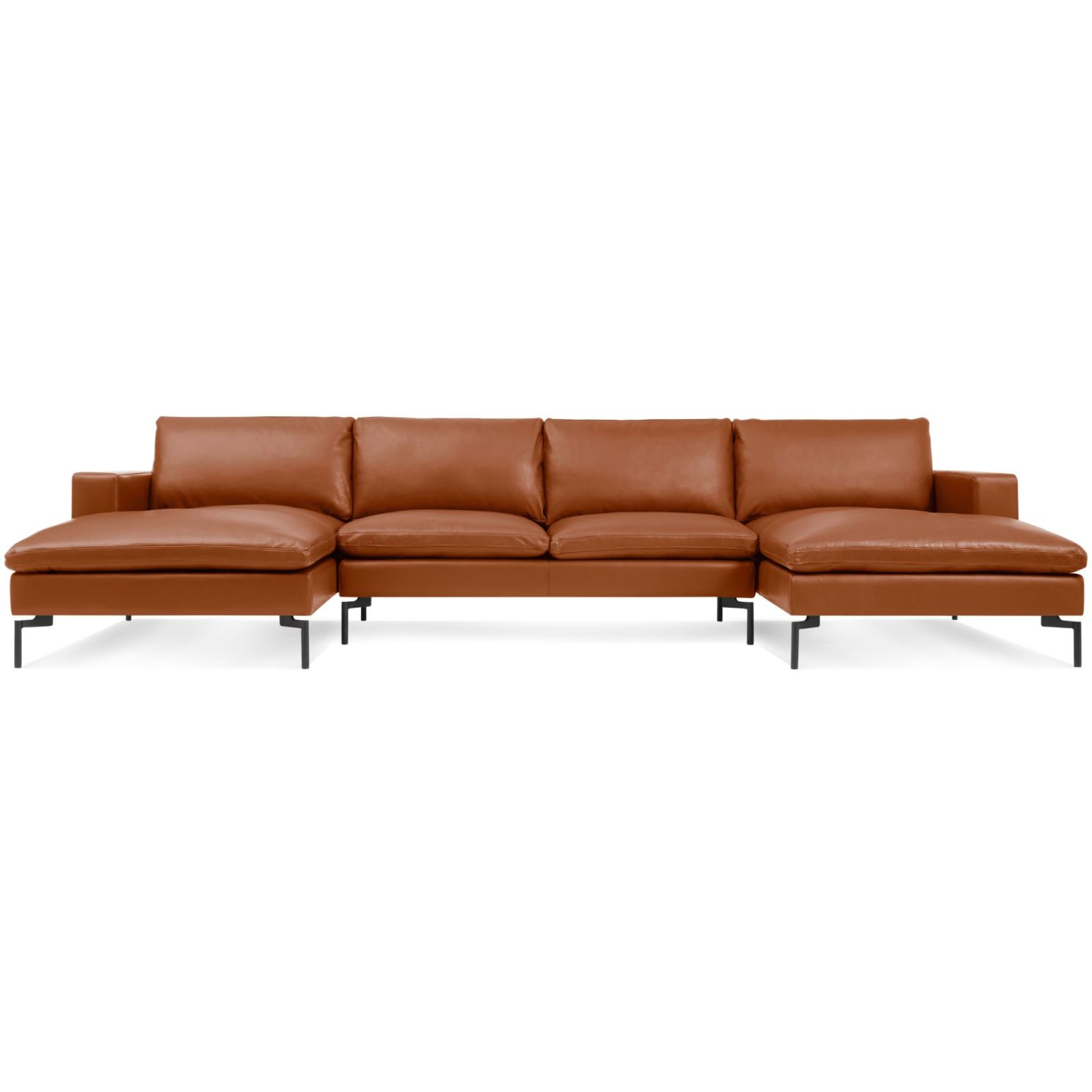 New Standard U-Shaped Leather Sectional Sofa | Blu Dot with regard to Best of Leather Sectional Sofa