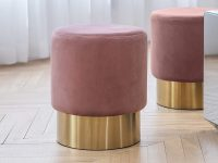 pink-vanity-stool-with-round-gold-base-modern-design-inspiration