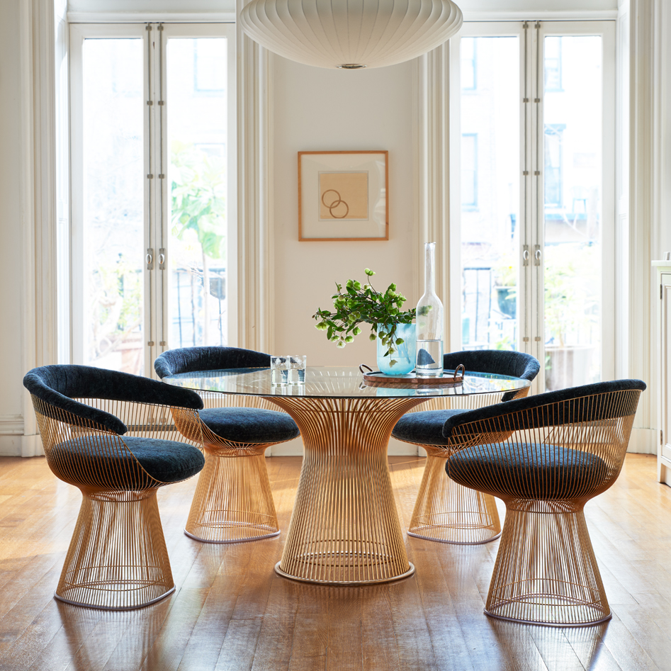 platner-chairs-and-table-mid-century-modern-dining-room-sets