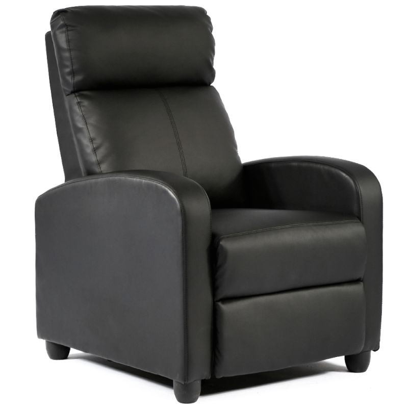Recliner Chair Single Reclining Sofa Leather Chair Home Theater in Unique Lounge Chair Living Room Furniture