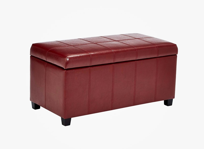red-leather-storage-bench-for-living-room-game-room
