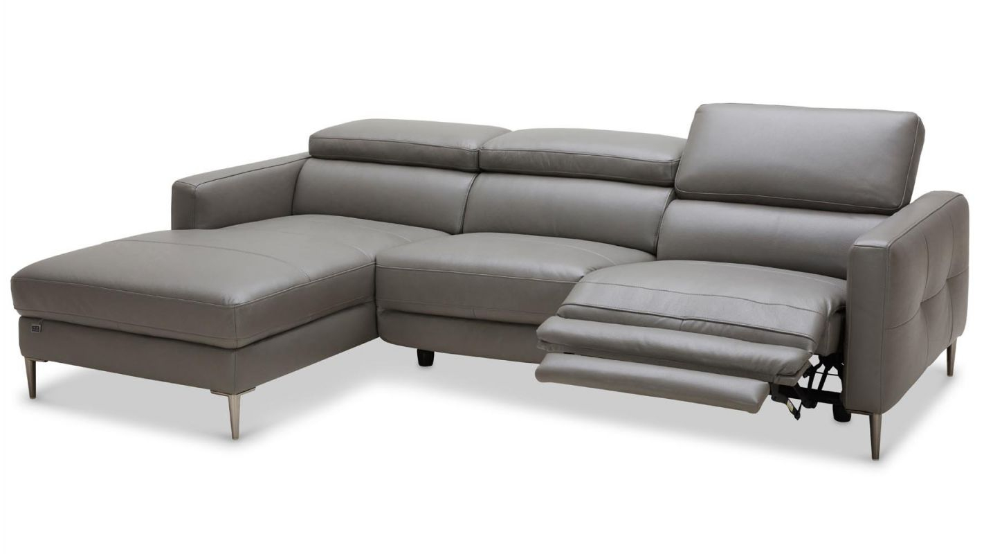 Reno Reclining Sectional with Leather Sectional Modern